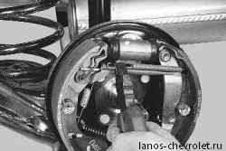 замена тормозных колодок заднего тормозного механизма