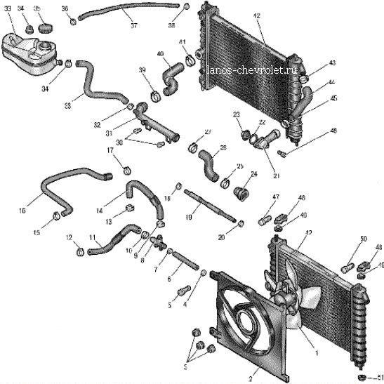 Система отопления ланос 1.5 схема фото 985
