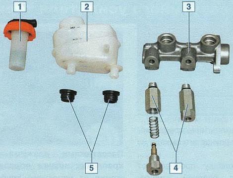 главный тормозной цилиндр chevrolet lanos устройство